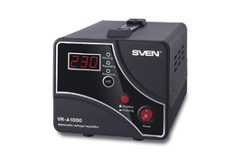 Stabilizator SVEN VR-A1000(600W 170-275В 1CEE7/4 OUT 230V BLACK METAL)