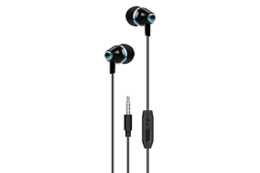 S-link SL-KU103 TIDYY In-Ear Black / Blue Headset with Microphone