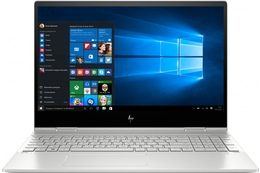 Noutbuk HP Envy x360 15-dr0001ur /Core i5-8265U/RAM 8GB/256GB /MX250 4GB /Touch/Silver - metal/W10H  (6PU81EA)